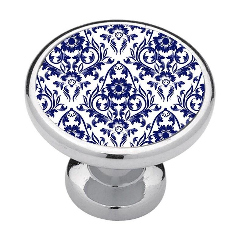Business Decor Drawer Pulls Home Decor Bathroom Decor Bedroom Decor Kitchen Decor Cabinet Knobs Blue Floral Ornamental Renters Decor