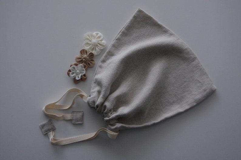 Natural linen Bulk Food Bag  Medium Bulk Food Bag  Reusable image 0