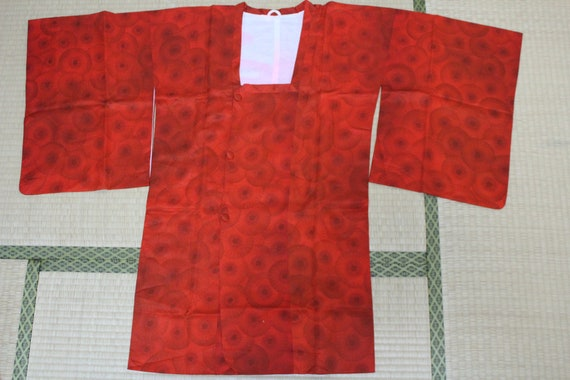 Pure silk Japanese Overcoat Michiyuki fabric orang