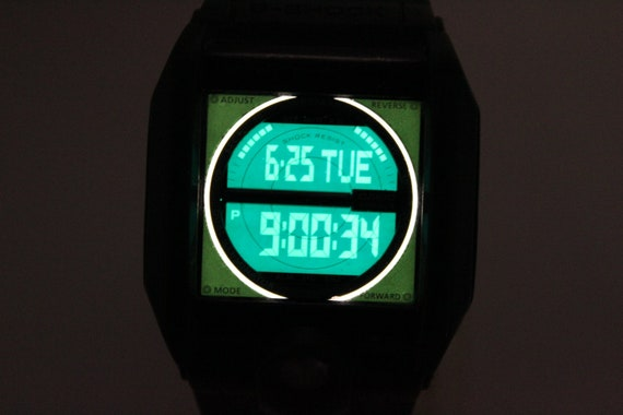 CASIO G-8100A green rectangle G-Shock resistant Wa