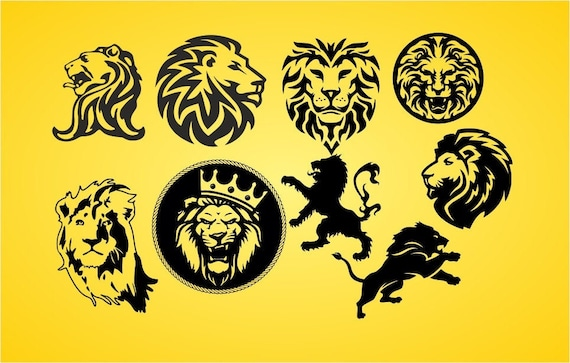 Lion Svg Download Lion Svg Dxf Png Lions For Cutting Machine Etsy