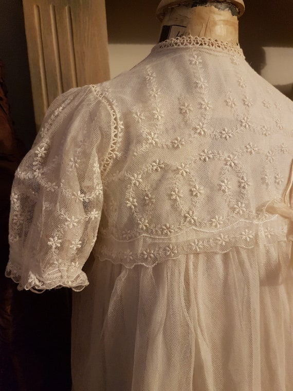 Charming antique hand embroidered christening dres