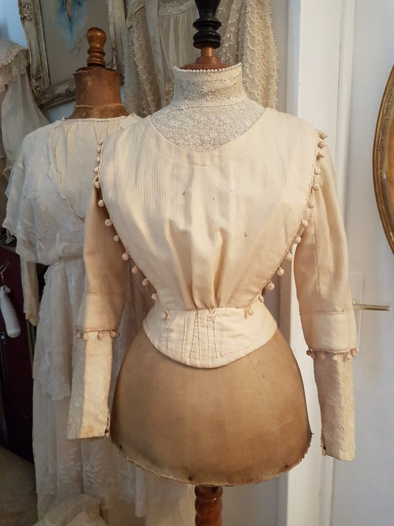 Very pretty old corseted bodice ... Antique dress,
