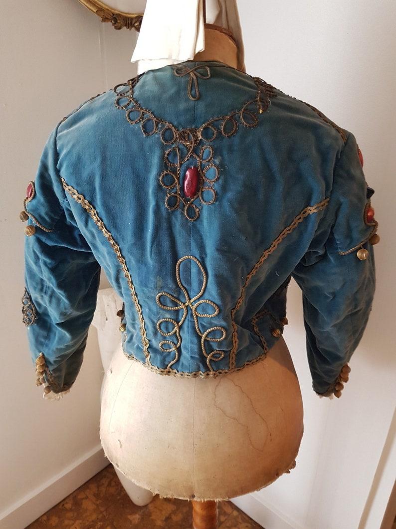 antique victorian dress edwardian dress antique dress Antique dress Victorian dress, Refreshing and old blue velvet jacket