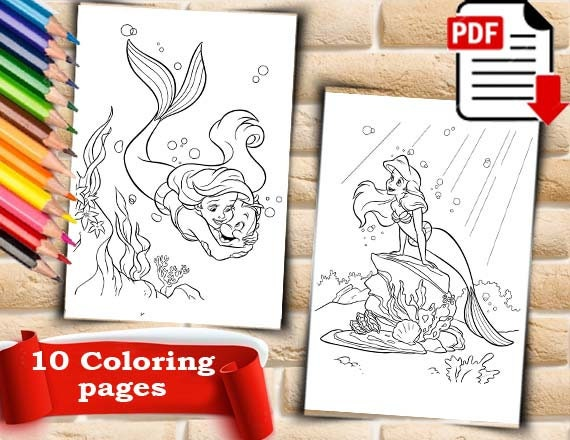 Mermaid Coloring Pages Mermaid Coloring Book Mermaid Coloring Svg Mermaid Coloring Sheet Fantasy Coloring Pages Disney Coloring Pages Pdf
