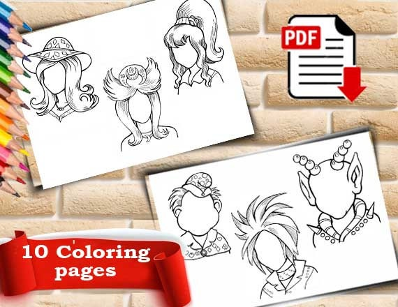 Portrait Coloring Face Coloring Book Color Me Happy Coloring Guest Book Beautiful Coloring Pages Beautiful Coloring Pages For Toddlers Pdf