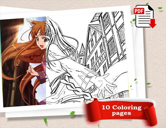 Coloring Book Pdf Kids Coloring Book Party Favor Anime Coloring Book Anime Coloring Pages Color Me Happy Girl Coloring Pages Coloring Sheet