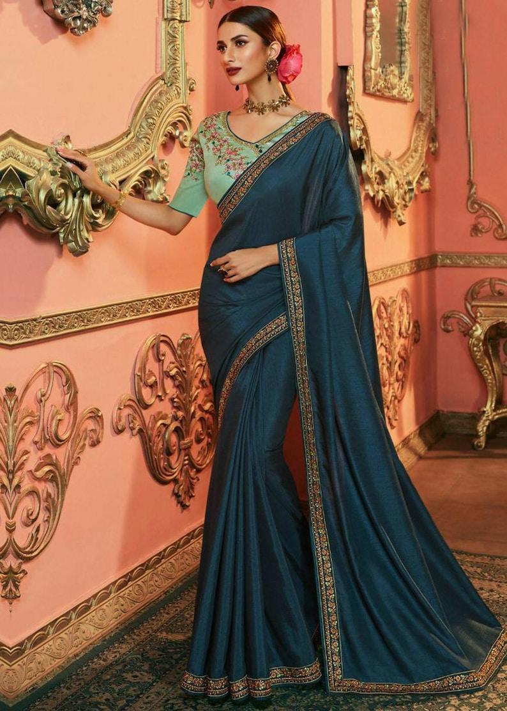 Manish Malhotra inspired silk Saree with thread work Wedding saree party wear saree reception sari Indian Festival organza saree
