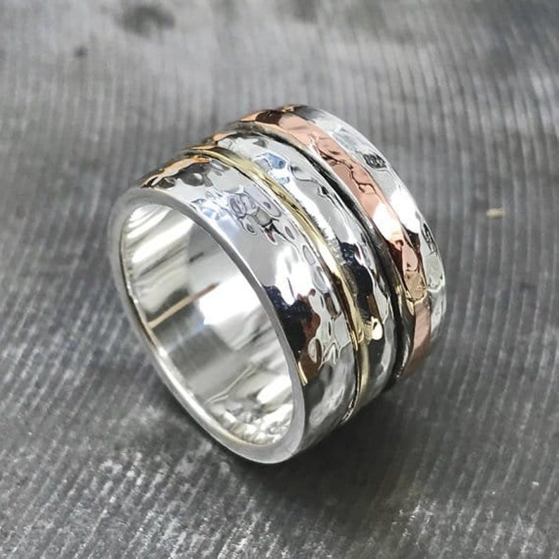 Plain silver ring meditation ring spinner ring spinning ring silver ring new admired ring mens ring womens ring fidget ring anxiety ring