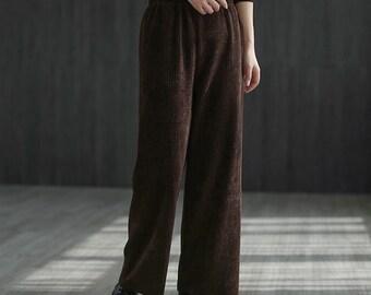 Women/'s Cotton Pants Plus Size High Cut Pants*High Waisted PantsOversize Navy Trousers*Pyjamas*HomewearYoga Pants*Elastic Waist