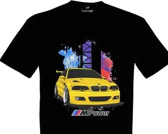 dbea94ee648a8 BMW E46 MPower M3 Herren t-Shirt mit Druck