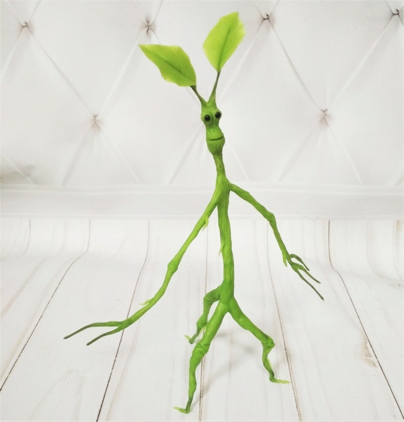 Handmaded Pickett The Bowtruckle Cold Porcelain Figurine Green Etsy But how does a bowtruckle come to life on the big screen?… handmaded pickett the bowtruckle cold porcelain figurine green harry potter world fantastic beasts fandom 8 inches