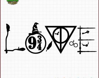 Harry Potter Love Svg Etsy