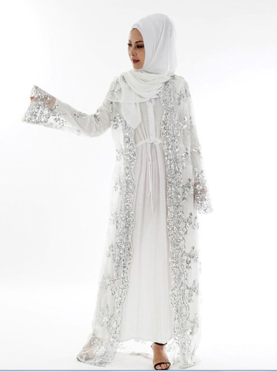 Maryam/'s Diamond Style Luxurious Tassel Kimono Abaya