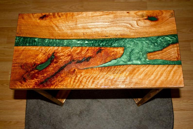 Epoxy River End Table