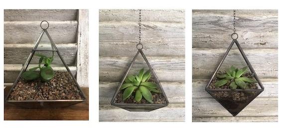 Stile Vintage Tea Light portacandele vaso cactus succulente fioriera erba