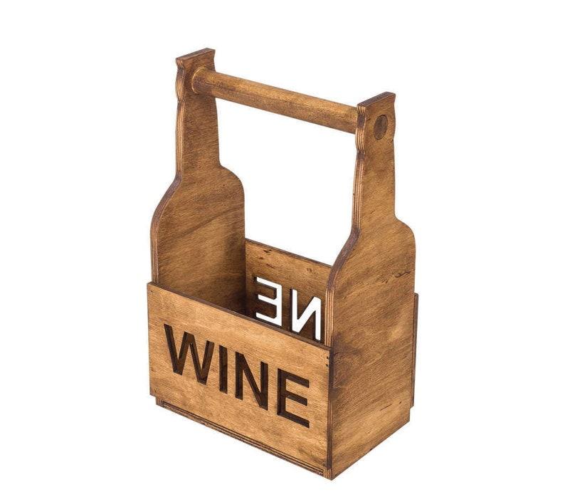 wood wine holder wine lover gift rustic wine rack wine caddy tabletop wine rack wine 4 bottle holder Wine Rack