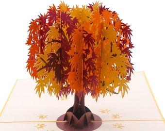 Maple tree Pop Up 3D card Autumn/fall