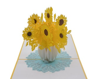 Sunflowers Pop up Card/ birthday/thank you