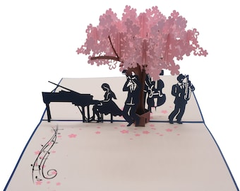Piano Pop Up Card.