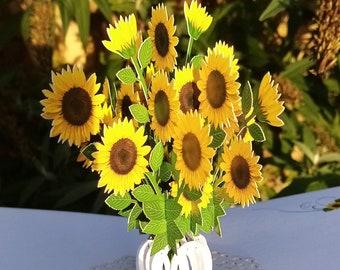 Sunflower pop up 3D card/ birthday/ get well/anniversary