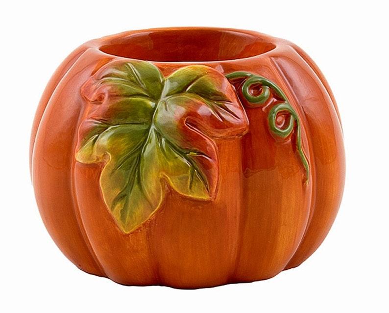 One Piece Autumn Orange Pumpkin Electric Stoneware Ceramic Wax image 0