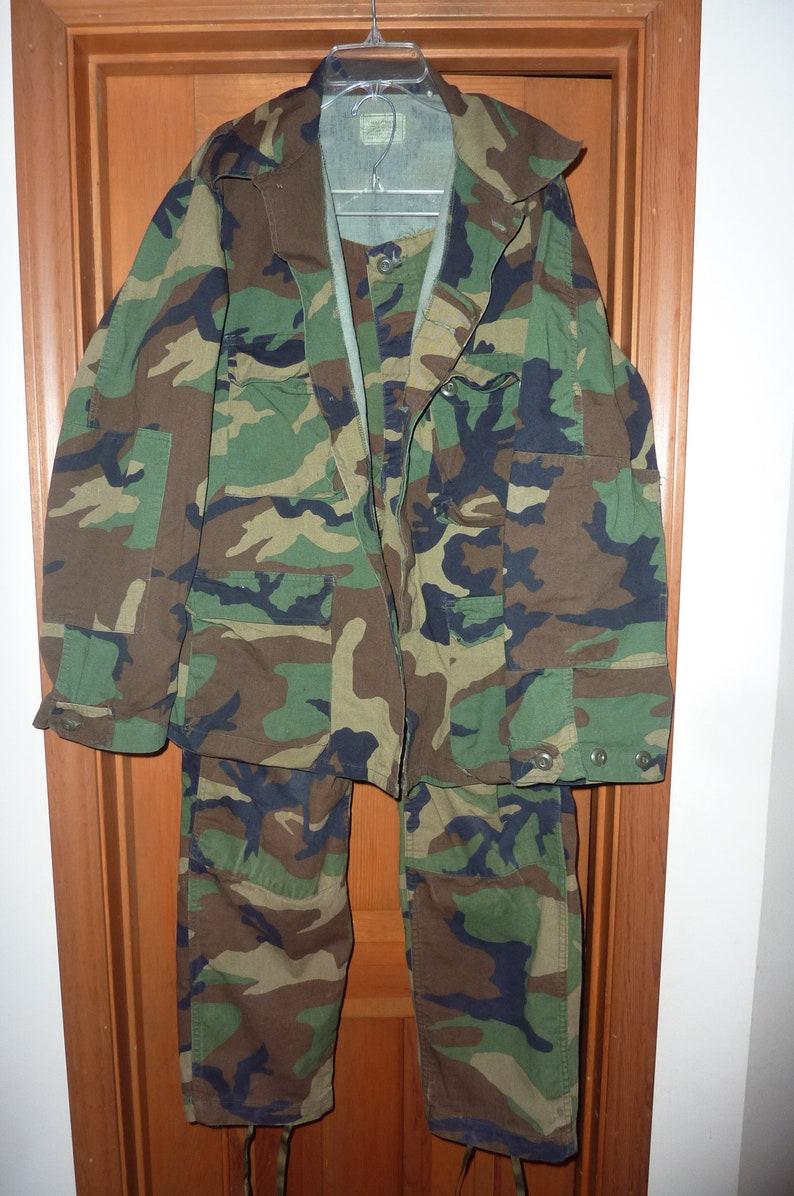 VINTAGE US Military Army Woodland Camo Combat Uniform image 0