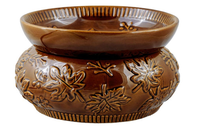 Fall Leaves Two Piece Electric Stoneware Ceramic Wax Warmer image 0
