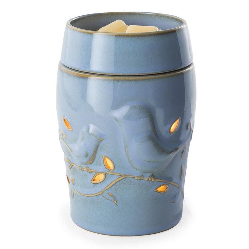Blue Bluebird Candle Warmer Illumination Electric 2 Piece image 0