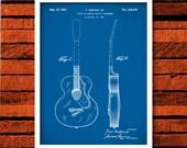 Guitar Patern Print, Gretsch 6022 Rancher Guitar Poster, Guitar Art, Rock and Roll