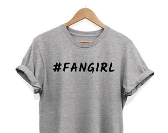 c426e17d37d73b Hashtag Fangirl-slogan hipster-Unisex T-shirt