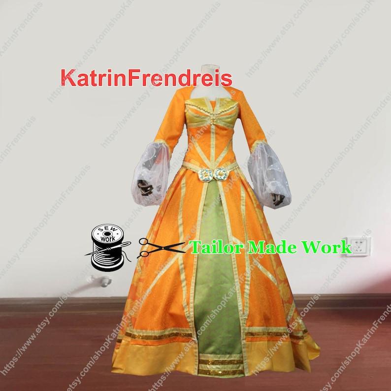 Custom Made 2019 Movie Aladdin Jasmine Princess Orange Dress Aladdin Jasmine Cosplay Costume