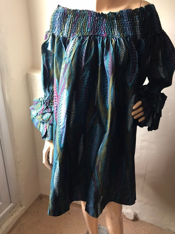 Boubou Multi coloured ankara Summer dress Stoned ankara dress
