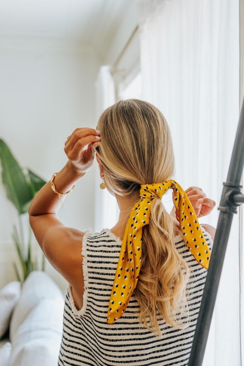 Luxury Silk Hair & Neck Scarf Head Band