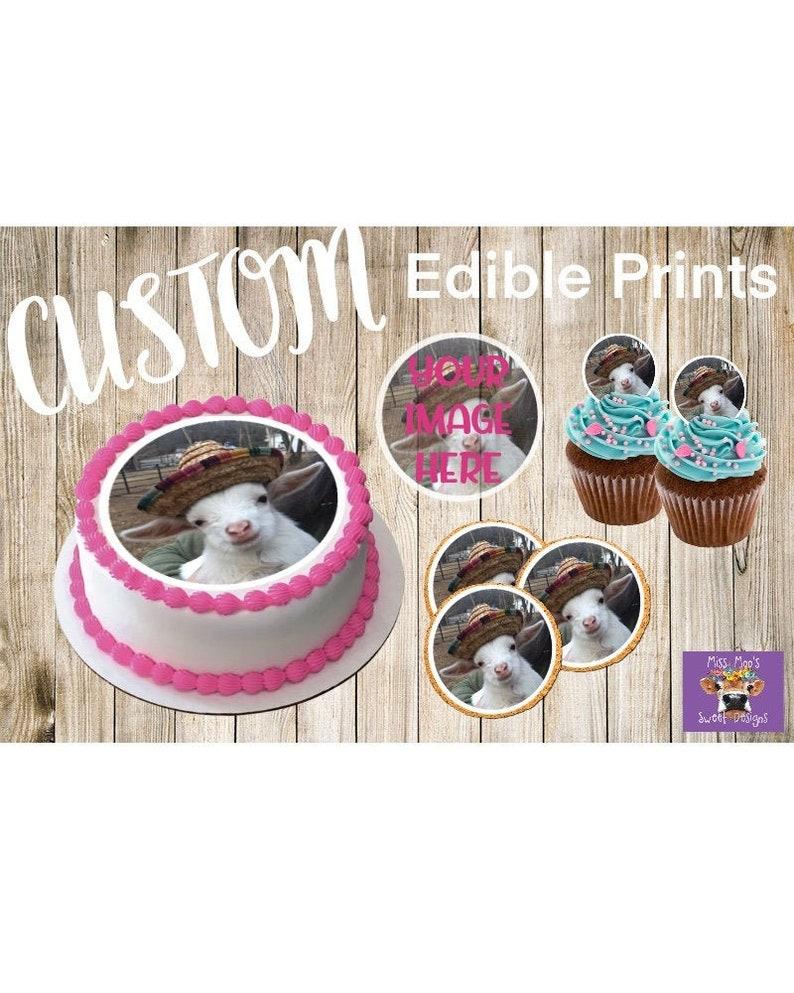 Cake, cupcake, cookie toppers Custom Edible Print-Frosting Sheet