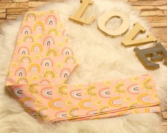 Rainbow cotton leggings for baby/girl