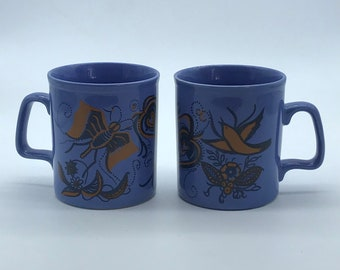 Rare Vintage Staffordshire Simone Mirman mugs