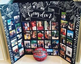 Senior Tri-Fold Photo Display Board