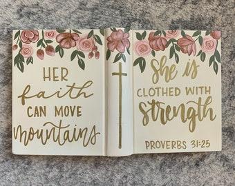 Custom Hand Painted Bible / Personalized Bible / Family Bible / Wedding Bible / Baptism Gift / Painted Bible