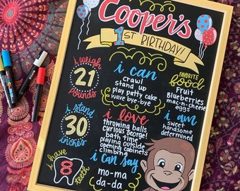 Birthday Themed Milestone Chalkboard