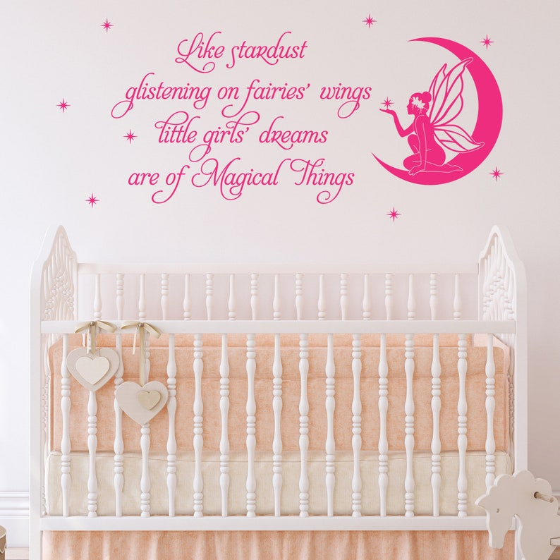 Wall Sticker Vinyl Decal Fairy Girl Bedroom Nursery Like Stardust Quote DF73