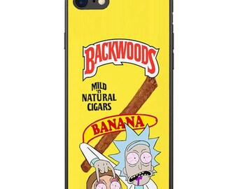 Yellow Banana Rick And Morty Custom Bape A Bathing Ape Supreme Iphone Case For X Xs Xr Max 6 7 8 Plus