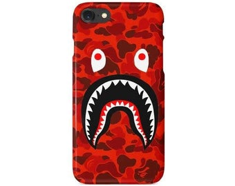 Red Custom Bape A Bathing Ape supreme iPhone case For iPhone X XS XR MAX 6  7 8 plus d3f58a99194