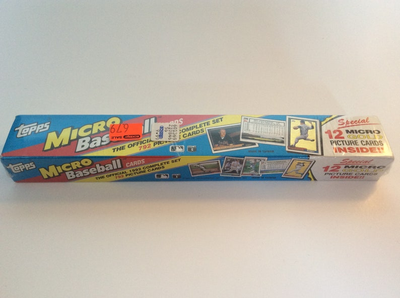 1992 Topps Micro Set Of Baseball Cards This Factory Set Is Still In The Plastic And Has Not Been Opened