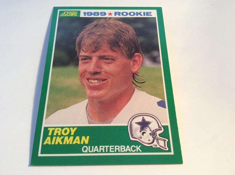 Troy Aikman Score 270 Rookie Card