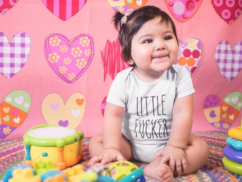 Rae Dumb Little F-er Funny Rude Infant Fine Jersey Bodysuit