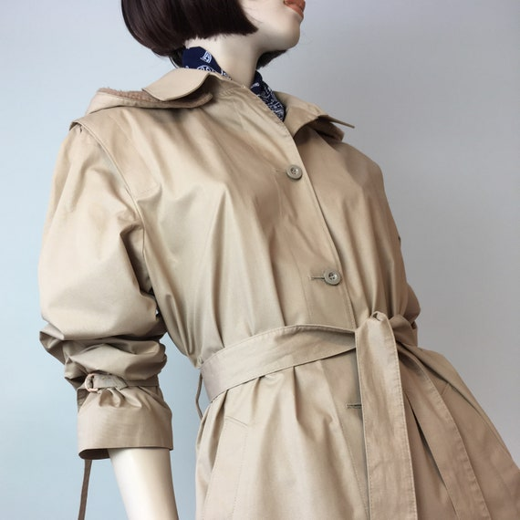 Vintage 80s London Fog trench coat with detachable