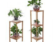 Wooden Plant Stand Indoor Outdoor Garden Decor Multi Tier Wooden Plant Display Stand (3 tier)