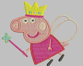 d2b5bcaf6b5cd Peppa Pig Applique Embroidery Designs, Peppa Pig Machine embroidery  designs, Embroidery designs baby, Peppa Pig Fairy, Instant Download