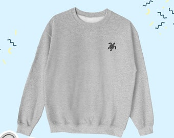 Turtle Sweatshirt, Cute Turtle Sweater, Turtle Sweater, Turtle Ocean Lover Sweatshirt, Ocean Lover Gift,  Ocean Lover Sweater, Nature Lover